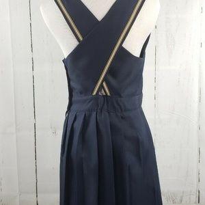 dear creatures Dresses - Dear Creatures Sailor Navy Pleated Dress